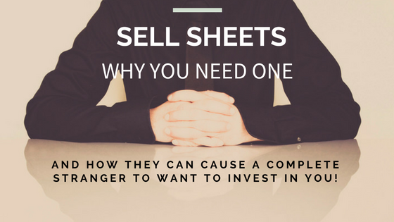 What is a sell sheet and why do you need it?